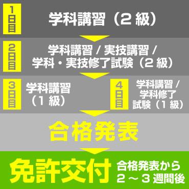 取得までのスケジュール(国家試験 免除コース)
